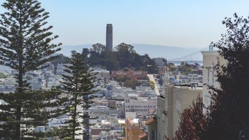 Coit Tower atop Telegraph Hill