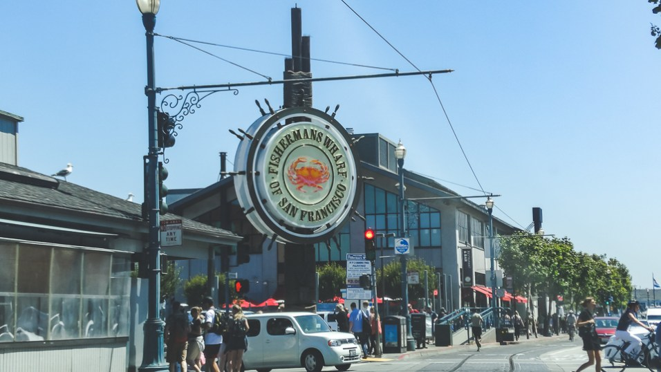 Iconic sign at the entrance to Fisherman's Wharf