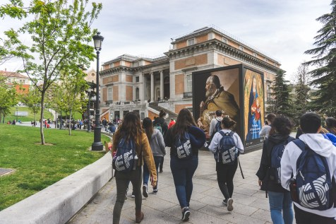 Outside Madrid's Prado Museum