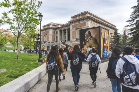 Outside Madrid's Prado Museum