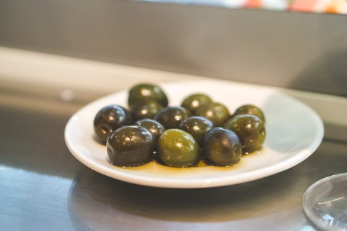 Marinated olives at Bar Postas