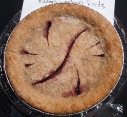 Spicy Ginger Cherry Gluten-free, Vegan Pie! with abstract cuts.