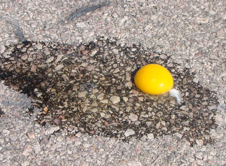 egg not frying