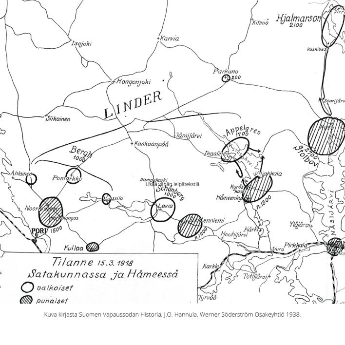 Sotatoimet Satakunnassa maaliskuussa 1918.