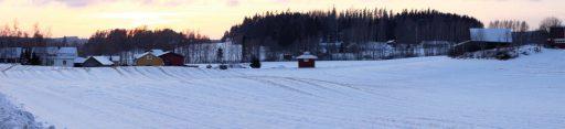 Kuva Hilliläntieltä Kurhilan suuntaan. Kurhilasta punakaarti perääntyi 16.4. aamuyöllä.