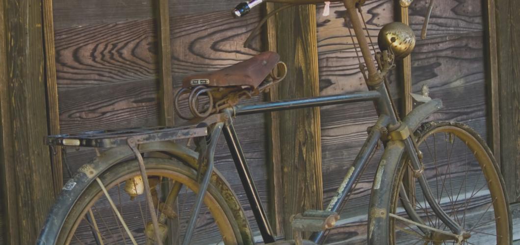 錆びれた自転車