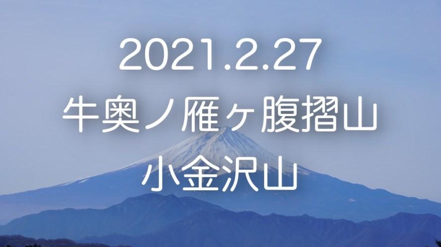 秀麗富嶽十二景の2番山頂「牛奥ノ雁ヶ腹摺山」と「小金沢山」へ。