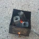 超簡単と紹介された炭火おこしを実験してみよう!