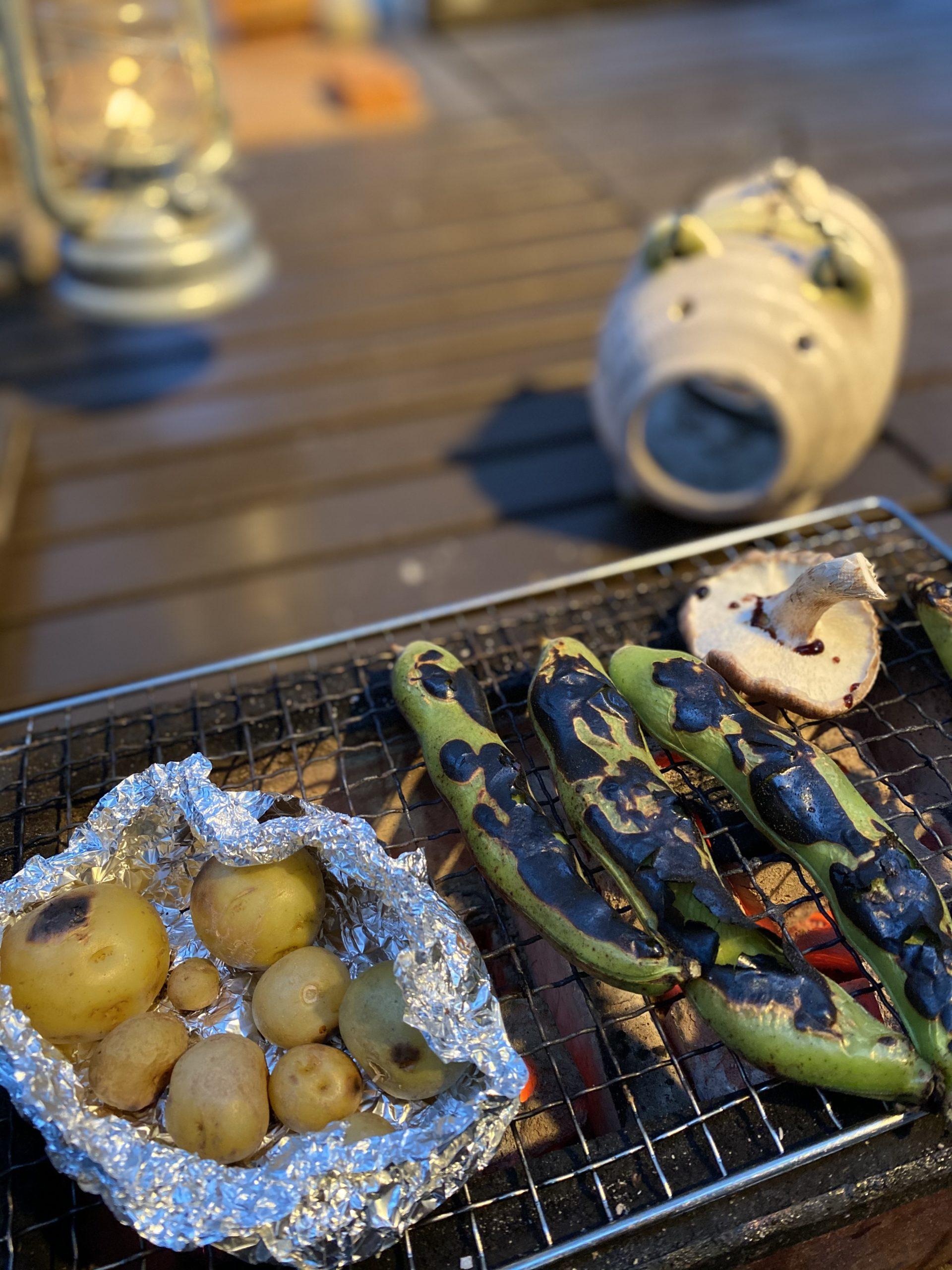 自家製野菜の炭火焼き