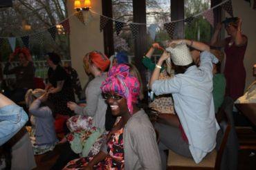 Headscarf tying success!