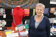 2017 New Forest Show - Sue with her Cross Body Bag
