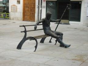 Statua pellegrino a Burgos