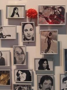 Foto di desaparecidos al Museo della memoria