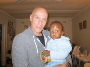 John holding wee child