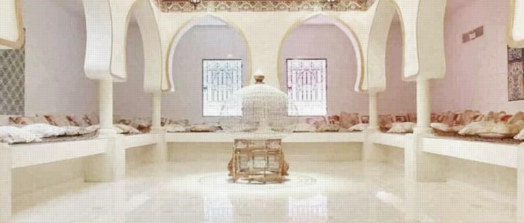 Hammam Le Pacha, salle de détente où règne silence et zénitude  pour un repos de l'esprit