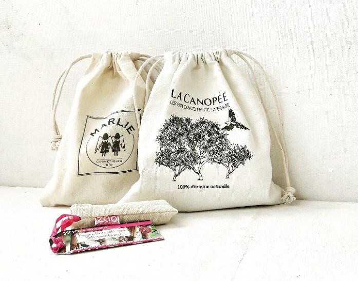 Ma commande L'Atelier Maoli reçue en 24 heures ! Les produits sont envoyés dans de jolis pochons ... idéal pour offrir !