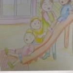 保育士二次試験絵画の予想問題。すべり台