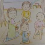 保育士二次試験絵画の予想問題。お弁当会