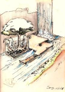 Scenography sketch studies tree house - 2015 1