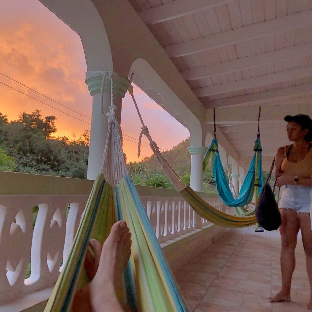 Sunset and hammocks