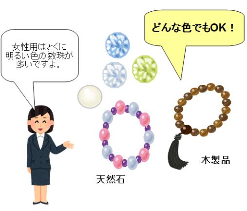 数珠 選び方 色 素材