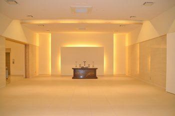 杜の聖苑(安芸市火葬場)告別室