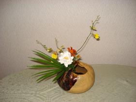 私の自作花器