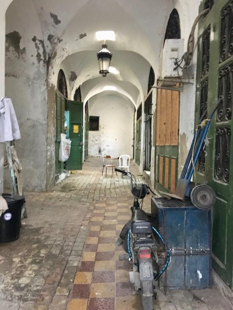 Souheil Fitouri's atelier in the Souk el Balgha in the medina of Tunis.