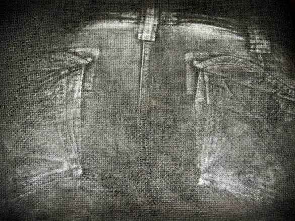 Rear part of jeans