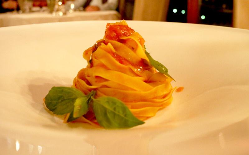 Das Rezept für einfache Spaghetti gibt es beim Turmwirt