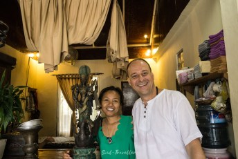 Frisör in Ubud mit Saraswati