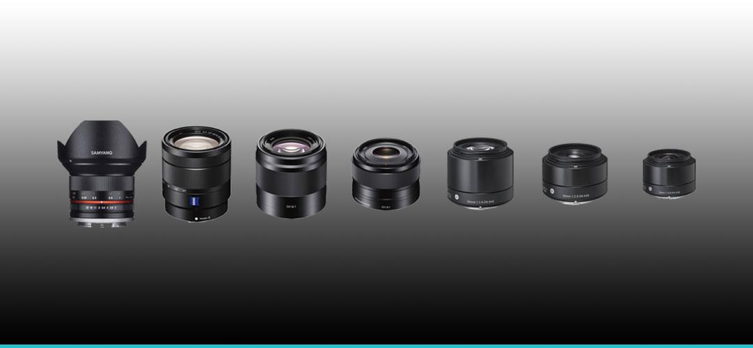 Sony Alpha E-Mount Objektive für die  6000 / 6100 / 6300 / 6400 / 6500 / 6600