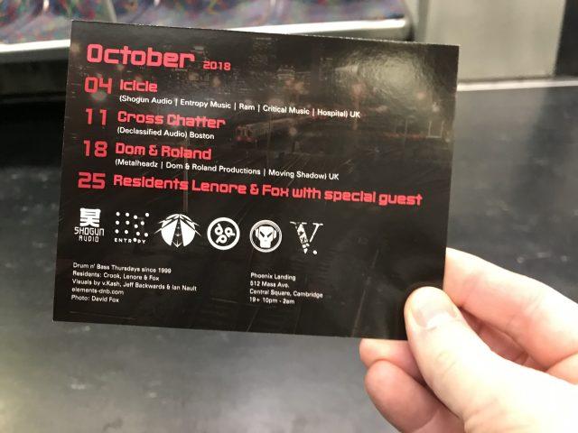 Elements October 2018 lineup