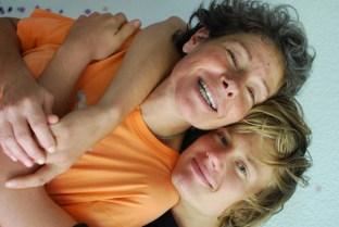 Louisa and her son, Sacha