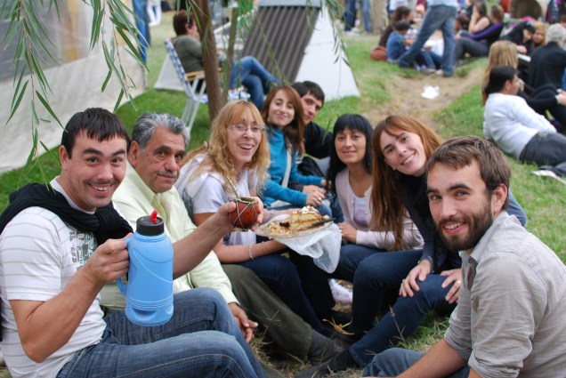 Our host family in Mayor Buratovitch, Argentina enjoying a Mate together at the Onion Festival