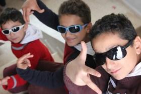 Syrian rapping brothers Mohammed Abdulrahman and Samir at Jarraheih Public School in Lebanon