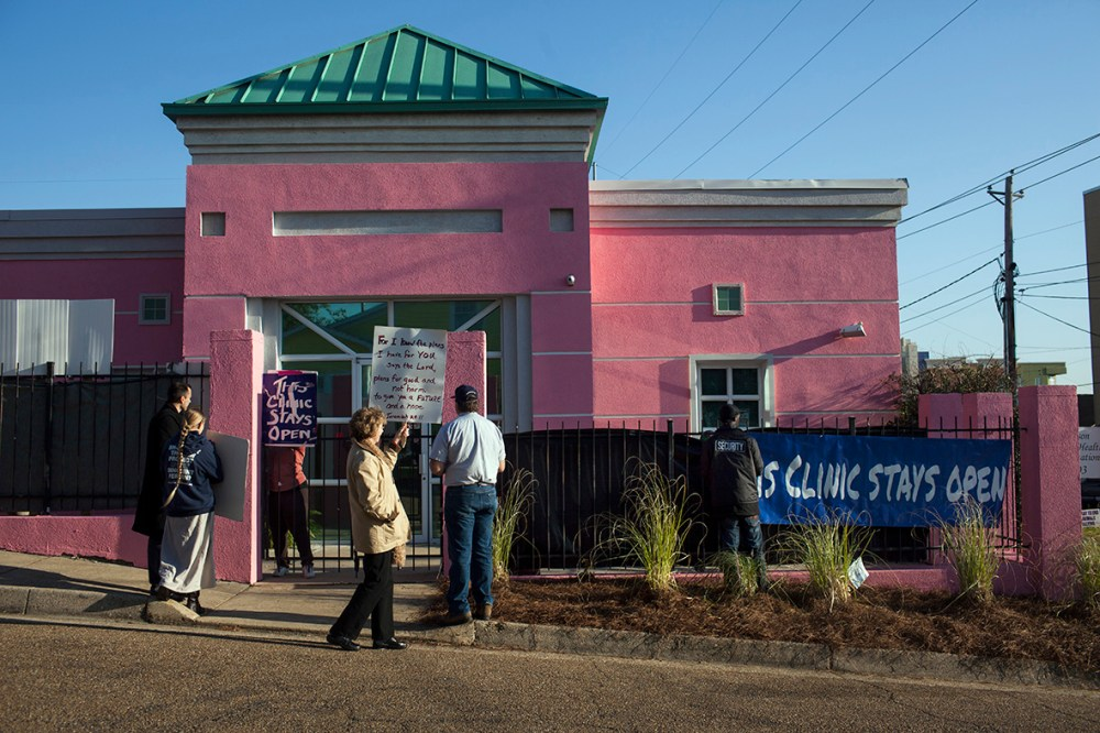 JACKSON - Outside of Mississippi's last abortion clinic