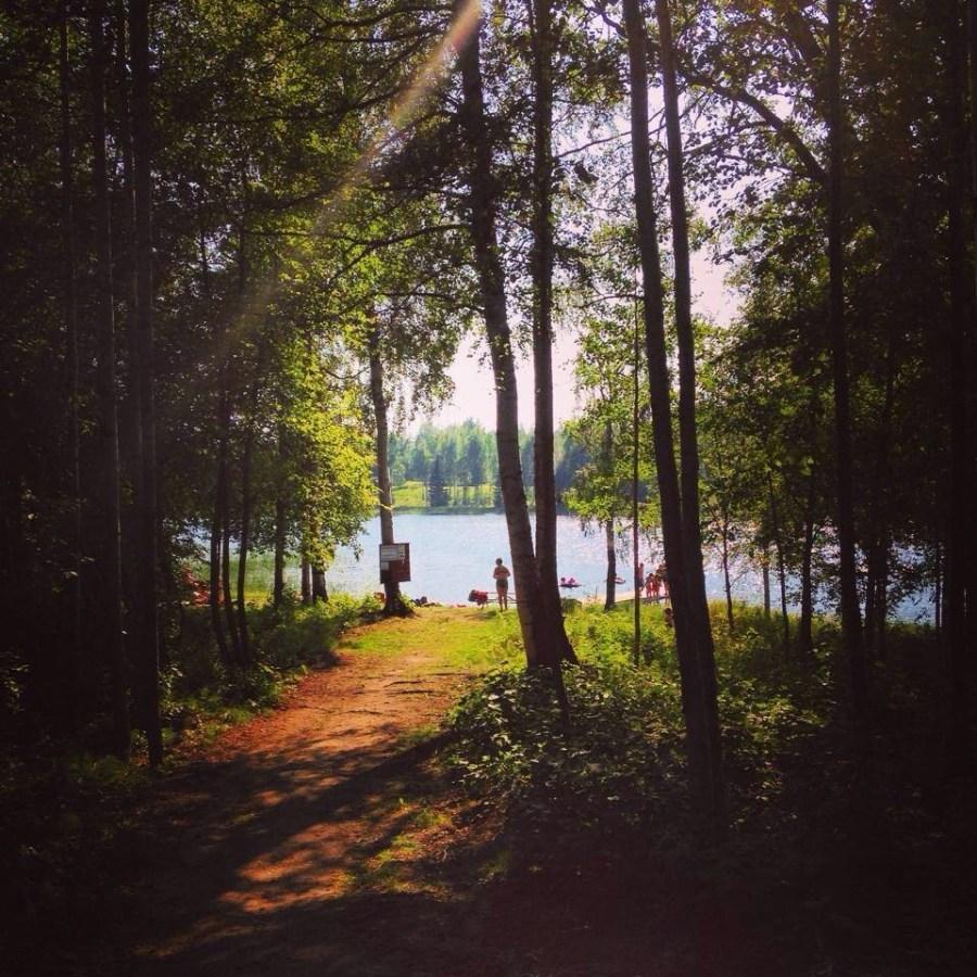 Badplatsen Selsjön utanför Sollefteå