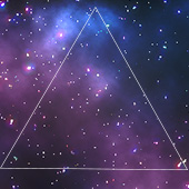 Graphic Art-Outer space with triangle