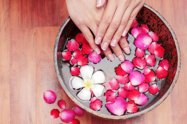 at home manicure soak