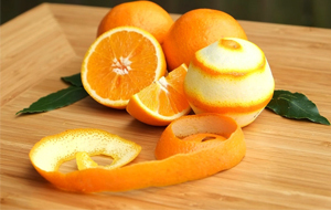 Peel an orange and grind into powder