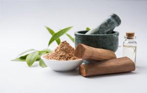 Use sandalwood in powder or oil form