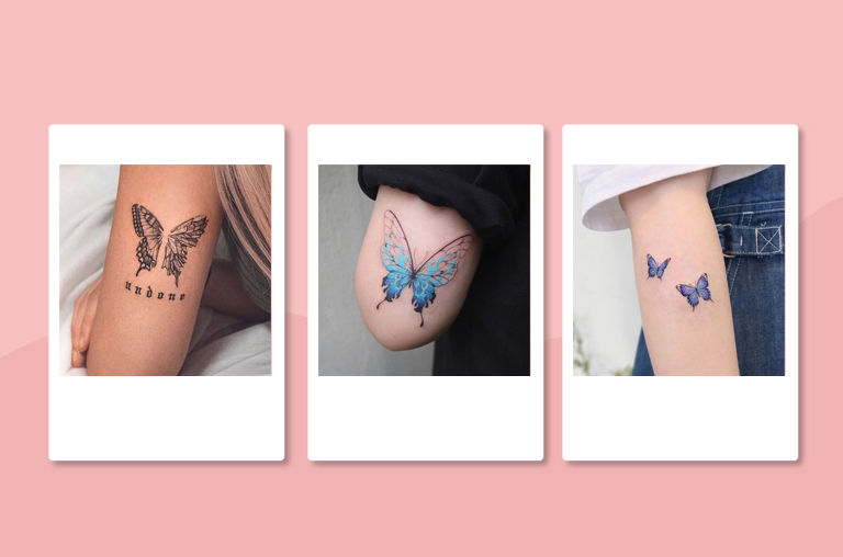 Butterfly tattoos on forearm