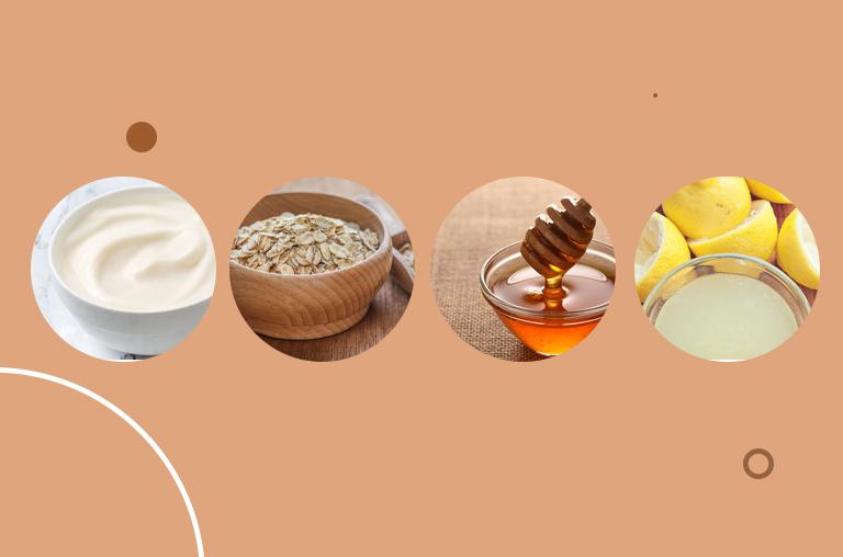 Milk Cream, Oatmeal, Honey, and Lemon Juice