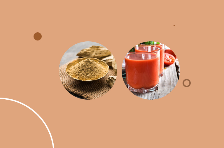 Multani Mitti and Tomato Juice