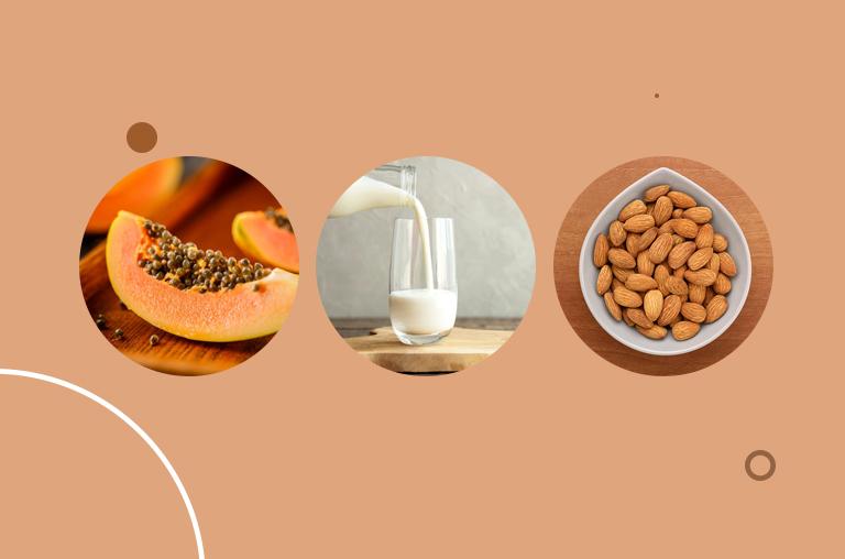 Papaya, Milk, and Almond Oil