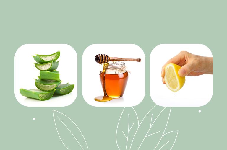 Aloe Vera, Honey, and Lemon Juice