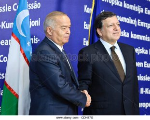 Karimov and Jose Manuel Barroso