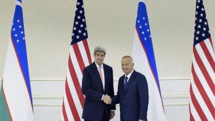 John Kerry and Islam Karimov