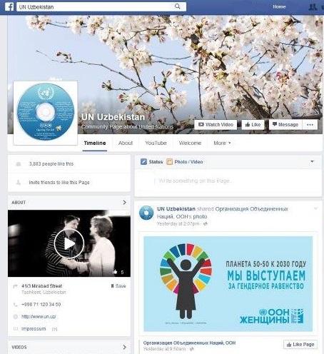 UN Women Uzb FB screen shot